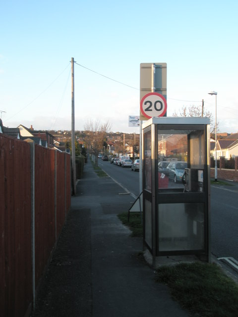 Phone box in Station Road, Drayton