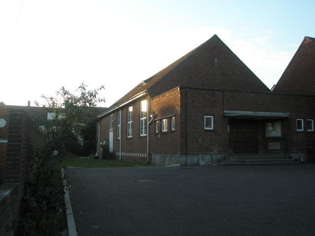 Church hall behind Drayton Methodists