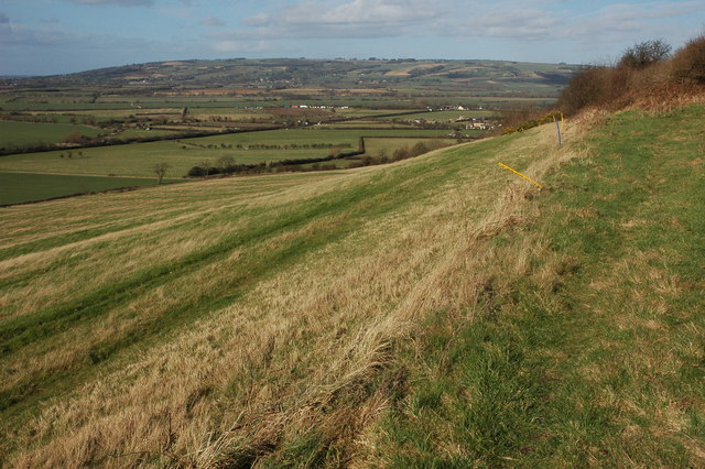 Bredon Hill viewed from above Teddington