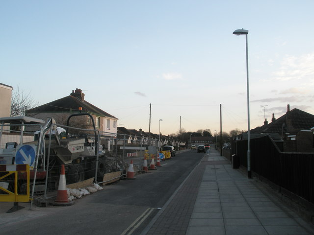 Roadsworks in Central Road, Springfield