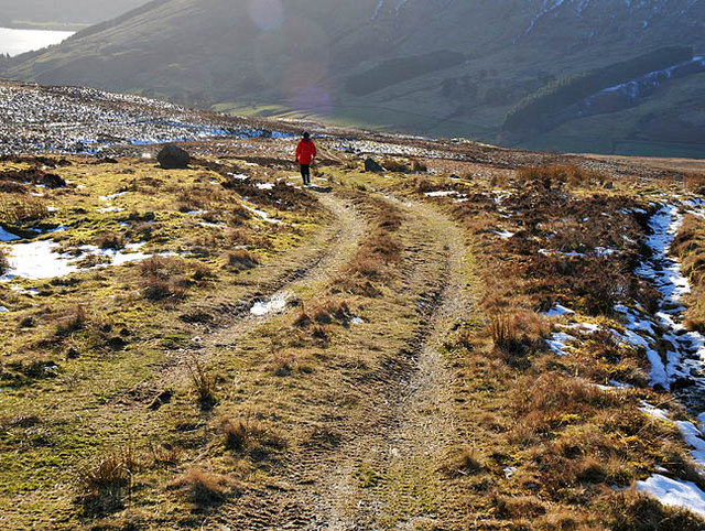 Hill track in Glen Beich