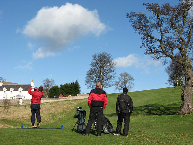 The old 18th tee at Galashiels Golf Course