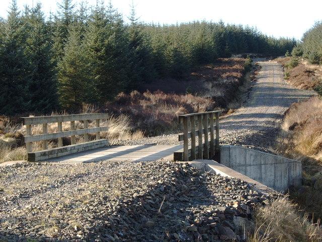 Forestry road bridge over Kinharvie Burn