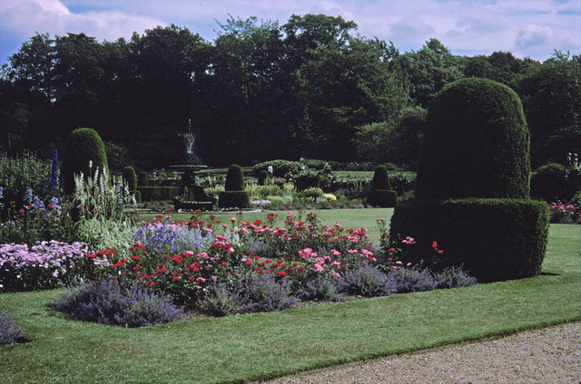 Flowerbed at Blickling Hall, Norfolk