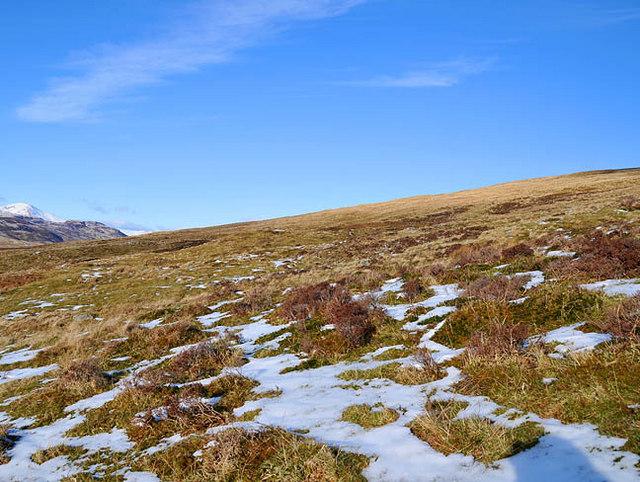 Moorland in upper Glen Beich