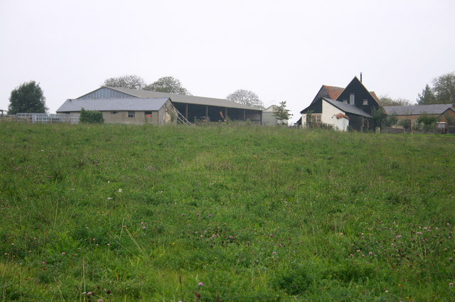 Looking up to Manor Farm