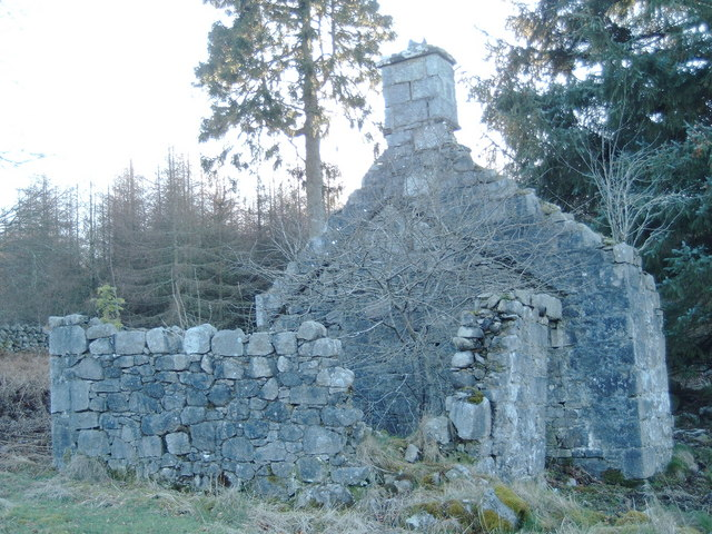 Ruined building, Hawkhill