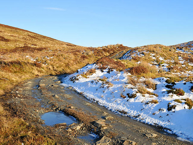 The hill track on the slopes of Sron Mhor