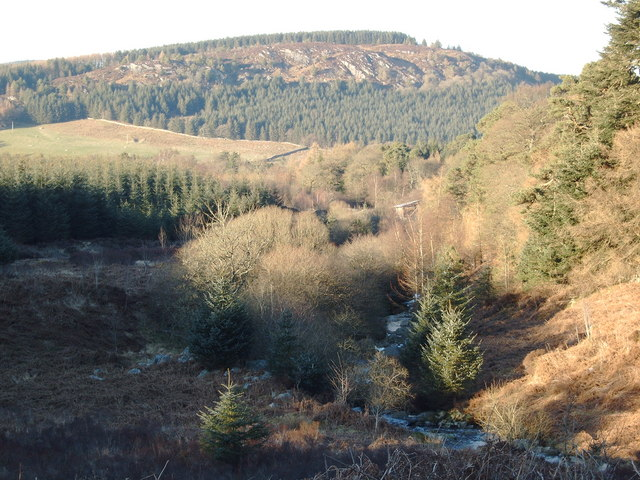 Kinharvie Burn with Auchengray Hill in the background