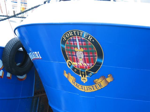 Fishing boat crest