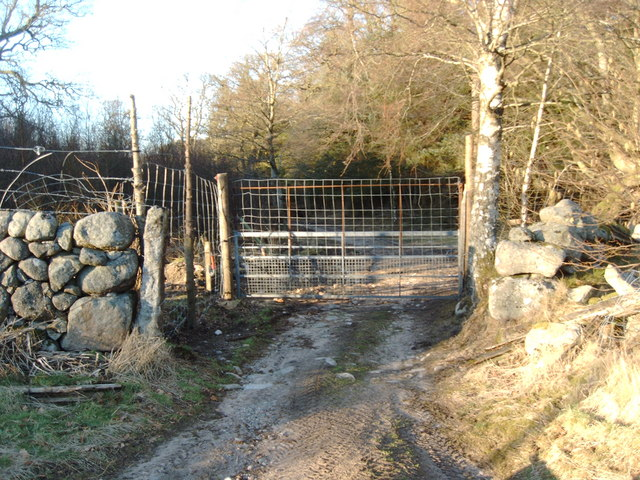 Gate on the north side of Kinharvie Farm