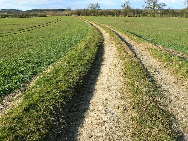 The track to Johnman's Barn, north of Hatherop