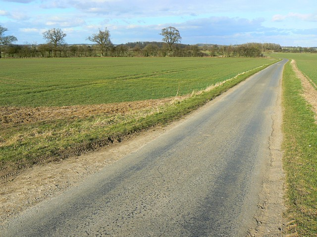 The road to Coltsmoor Farm, north of Hatherop