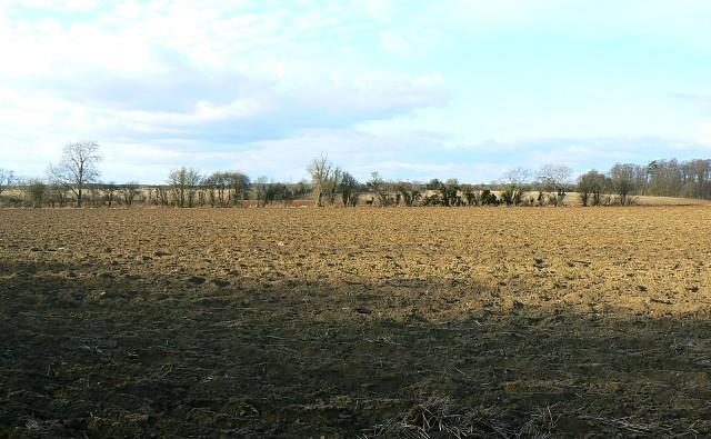 Farmland north of Hatherop