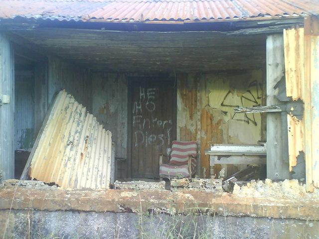 Derelict Croft at Bunacaimb.