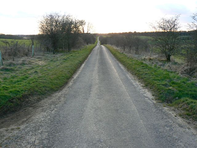 The road south-west out of Eastington