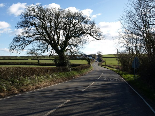 B3254 near Tankins Farm