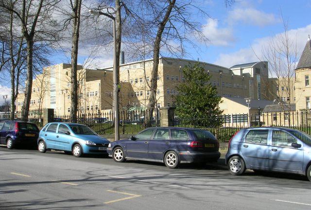 Calderdale Royal Hospital - viewed from Godfrey Road