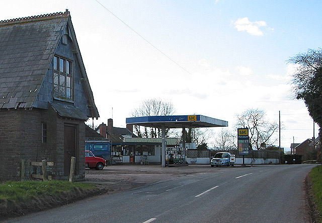 Rural petrol station,  Broad Oak