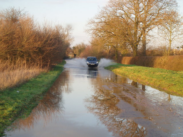 Floods out on the Tansor Road