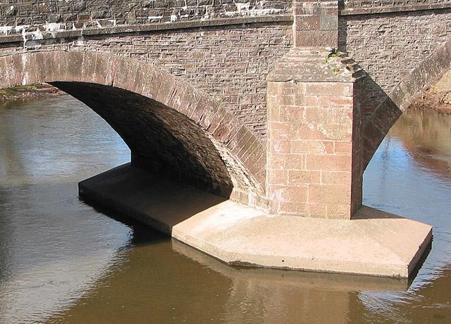 Pier detail - Skenfrith Bridge