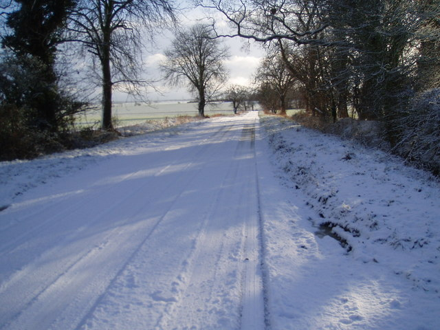 Winter scene on the way to Little Gidding
