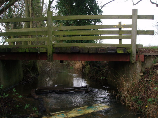 Bridleway Bridge over Alconbury Brook at  Great Gidding