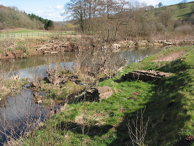 Site of medieval castle wharf by the River Monnow