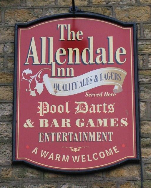 Sign for the Allendale Inn