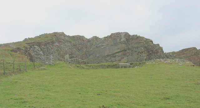 The very top of Carreg-y-Llam Quarry