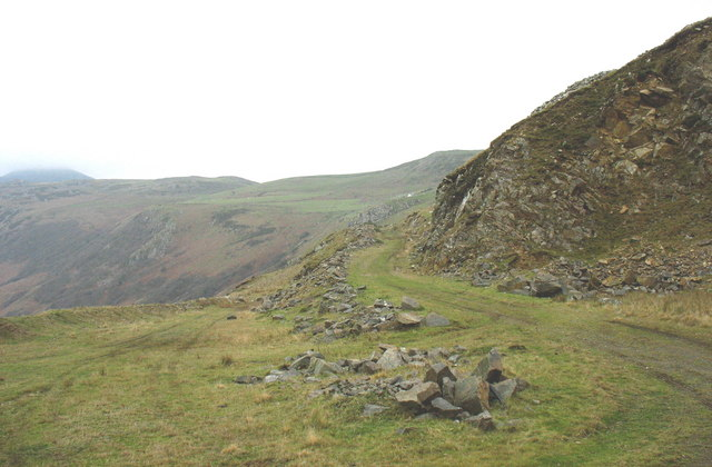 The Carreg-y-Llam Quarry road