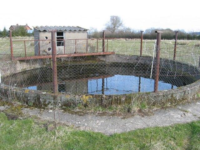Small reservoir near farm