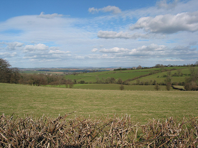 Rolling countryside near Pembridge Castle