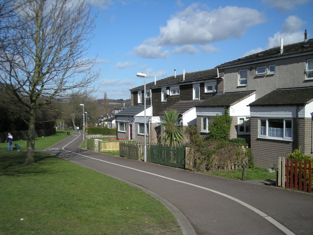 Housing typical of Woodside estate.