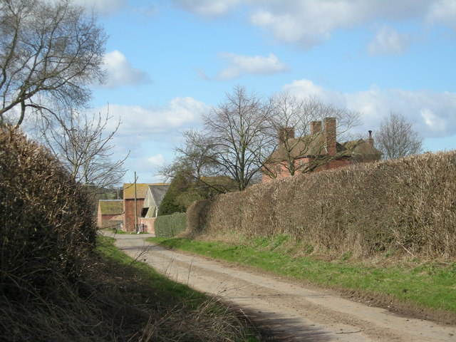 Sutton House & lane to Sutton Maddock.
