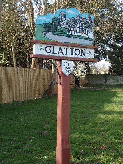 Village sign Glatton