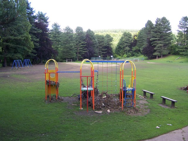 Playground after the Oughtibridge Flood