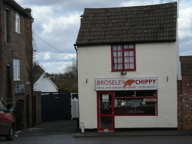 As it says on the sign, it's the Broseley Chippy.