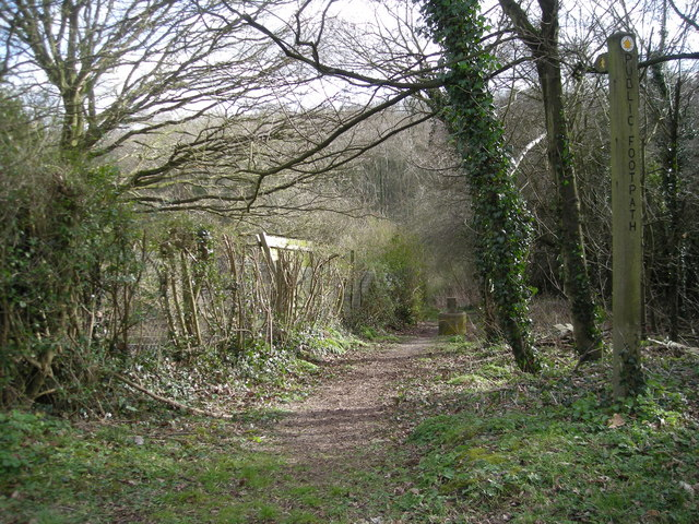 Footpath off Cherry Tree Hill.