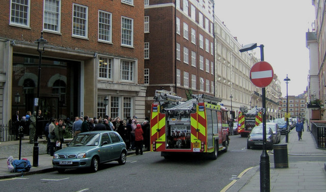 Fire Alarm Drill at Carlisle Place, London SW1