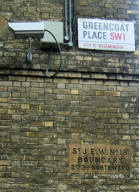 Street Sign and Boundary Marker, Greencoat Place, London SW1