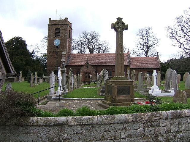 St. Bartholomew's Church,and War Memorial, Great Barrow