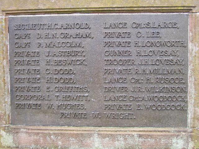 WWI Memorial, Great Barrow