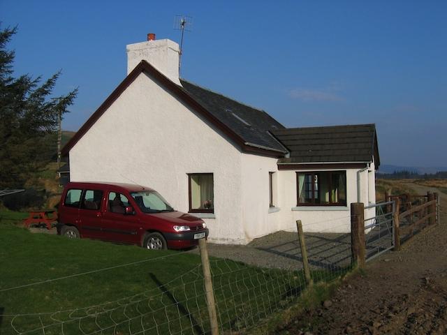 Cottage and Car at Kilbeg