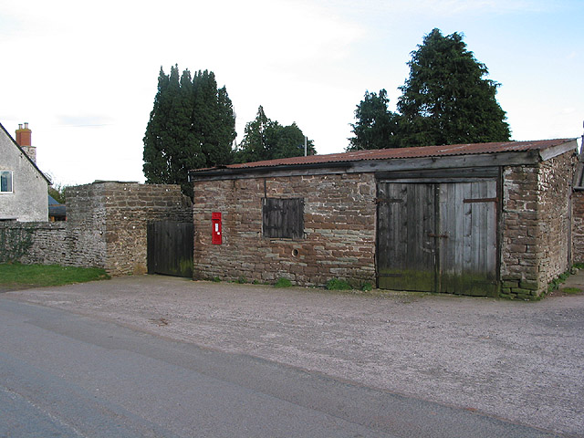 Postbox on an outbuilding, The Thorn