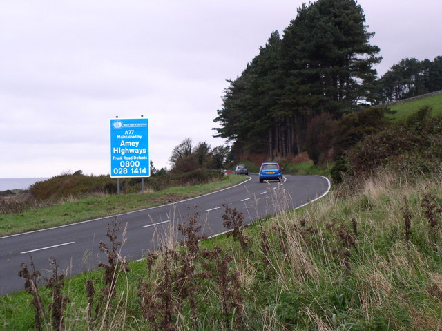 Amey Road Sign