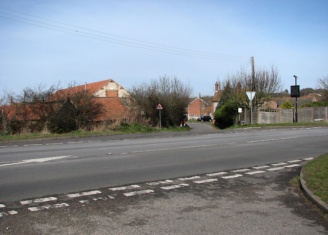 View across Norwich Road (A140)