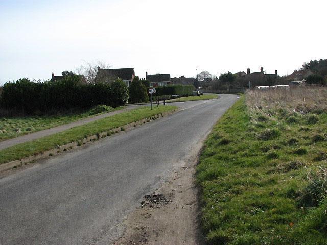 Approaching Roughton on Back Lane