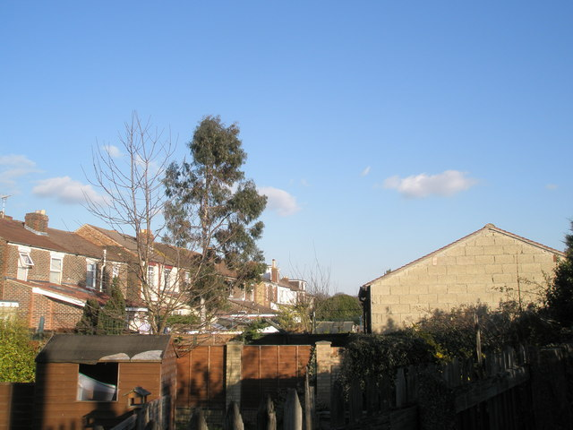 Rear of houses in Knowlsley Road, Cosham
