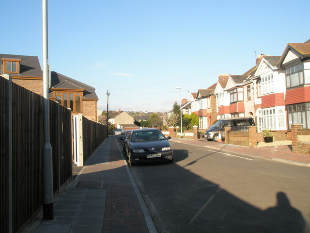 Southern end of Salisbury Road Cosham